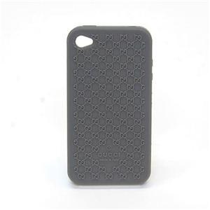 Gucci(グッチ) マイクロGGシリコン iPhone4/4S専用・ラバーケース アイフォン・カバー グレー 272401 J1400 1320 - 拡大画像