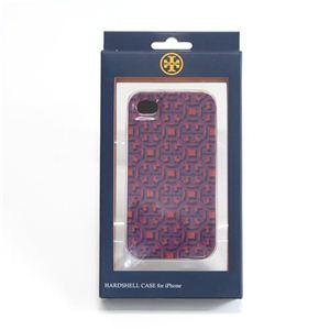 TORY BURCH(トリーバーチ) LOGO LATTICE B iPhone4/4S 専用ケース ハードカバー レッド系 41129028 673 PINK MULTI - 拡大画像