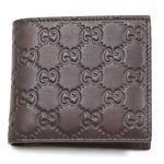 Gucci(グッチ) グッチシマ 二つ折り財布 小銭入れ付 チョコレート 146223 A0V1R 2019