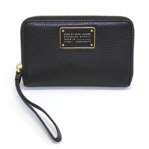 MARC BY MARC JACOBS(マークバイマークジェイコブス) M0007205 1 Black New Too Hot To Handle Wingman iPhone・アイフォン収納ポケット&パスケース付 ラウンドファスナーマルチポーチ ミニ財布 ≪2015AW≫ - 拡大画像