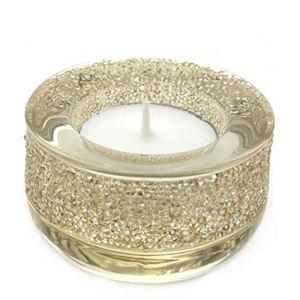 Swarovski(スワロフスキー) Shimmer Tea Light Golden Shadow クリスタルロック ティーライト キャンドルホルダー ゴールデンシャドウ 5108877 - 拡大画像