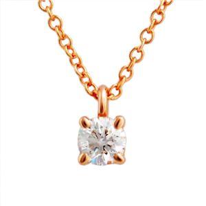 TIFFANY&CO(ティファニー) 30223942 ソリティア ダイヤモンド ペンダント 0.17ct 16in 18KRG ネックレス - 拡大画像