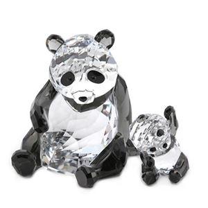 SWAROVSKI(スワロフスキー) Panda Mother With Baby 親子パンダ ハートフル クリスタルフィギュア クリア/ブラック 5063690 - 拡大画像