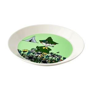 Arabia(アラビア) AR100103 Moomin Plate 19cm Snufkin Green 「スナフキン」 ムーミン プレート皿 ≪北欧食器≫