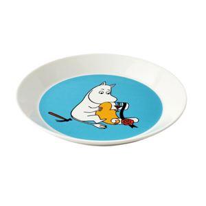 Arabia(アラビア) AR018742 Moomin Plate 19cm Moomintroll Turquoise 「ムーミン」 プレート皿 ≪北欧食器≫
