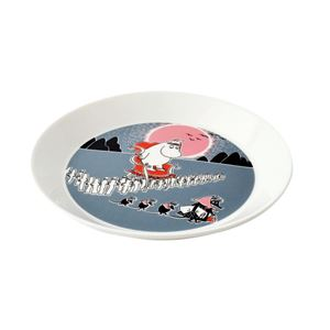 Arabia(アラビア) AR018817 Moomin Plate 19cm Adventure Move 「アドベンチャー ムーブ」 ムーミン プレート皿 ≪北欧食器≫