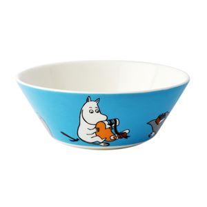 Arabia(アラビア) AR018741 Moomin Bowl 15cm Moomintroll Turquoise 「ムーミン」 ボウル ディーププレート皿 ≪北欧食器≫ - 拡大画像