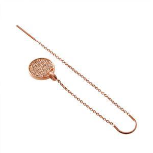 SWAROVSKI (スワロフスキー) 5253285 クリスタルパヴェ スライドスルー ピアス Ginger Chain