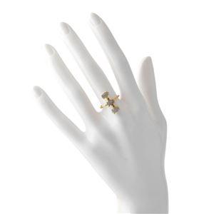 CHAN LUU (チャンルー) RGGF-1343 LAB 6 シャンパン ダイアモンド 0.03ct ラブラドライト付 リング 指輪 日本サイズ11.5号相当