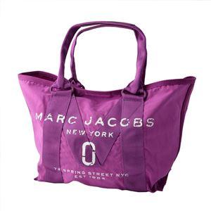 MARC JACOBS (マークジェイコブス) M0011222-533 Lilac ミリタリーロゴプリント トートバッグ スモール A4サイズ対応 New Logo Tote Small - 拡大画像