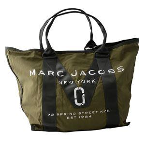MARC JACOBS (マークジェイコブス) M0011223-313 Army Green ミリタリーロゴプリント トートバッグ A4サイズ対応 New Logo Tote - 拡大画像