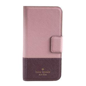kate Spade (ケイトスペード) 8ARU2154 694 バイカラー 手帳型 アイフォン7専用ケース スマートフォンカバー Leather Wrap Folio - 7 I-phone case - 拡大画像