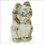 Baccarat (バカラ) LUCKY CAT 表情が可愛い 日本生まれのラッキーモチーフ 「招き猫」(ゴールド) 2612997