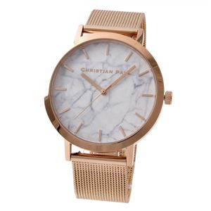 CHRISTIAN PAUL (クリスチャンポール) 4-Mar (MRM-02) Marble Collection (マーブルコレクション・メッシュストラップ) 43mm Whitehaven ユニセックス 腕時計 - 拡大画像