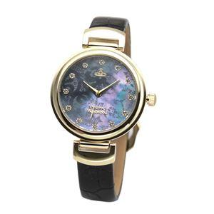 Vivienne Westwood (ヴィヴィアンウエストウッド) VV128GDBK レディース 腕時計 - 拡大画像