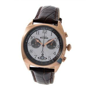 Vivienne Westwood (ヴィヴィアンウエストウッド) VV176WHBR メンズ 腕時計 - 拡大画像