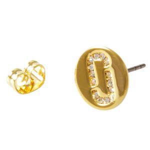 MARC JACOBS(マークジェイコブス ) M0011472-710 Gold クリスタル 「J」ロゴモチーフ ディスク スタッド ピアス Icon Crystal Studs