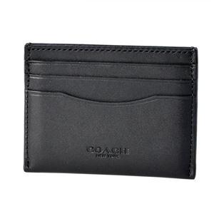 COACH(コーチ) 54441 Dk/Black (DKBLK) カードケース 名刺入れ FLAT CARD CASE - 拡大画像