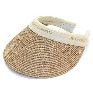HELEN KAMINSKI(ヘレンカミンスキー) Bianca/Nougat/Natural Logo ≪2015SS≫ビアンカ UPF50+ クリップ サンバイザー ラフィア製ハット レディス帽子