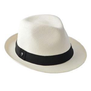 HELEN KAMINSKI(ヘレンカミンスキー)XY HELEN KAMINSKI Emosi Chalk/Black ≪2018SS≫エモシ UPF50+ クラシック フェドーラハット パナマハット メンズ中折れ帽子 Mサイズ