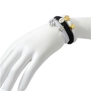 MARC JACOBS (マークジェイコブス) M0013542-098 Silver Multi (シルバーマルチ) クラスターポニー ヘアゴム3本セット ブレスレットにも MJ Coin Bow Pony