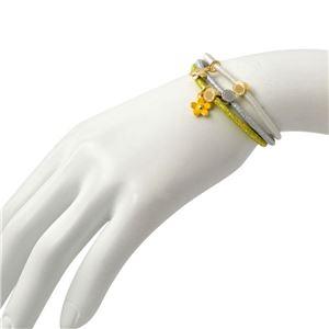 MARC JACOBS (マークジェイコブス) M0013849-750 Yellow Multi (イエローマルチ) クラスターポニー ヘアゴム3本セット ブレスレットにも Daisy Skinny Pony