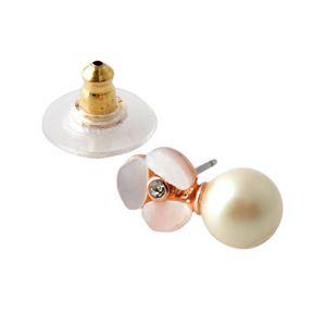Kate Spade (ケイトスペード) WBRUD516-274 Cream Multi/Rose パンジーモチーフ&パール リバーシブル ピアス Disco Pansy Reversible Earrings