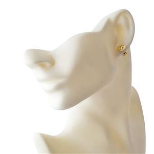 MARC JACOBS (マークジェイコブス) M0011472-168 Crystal/Gold クリスタル 「J」ロゴモチーフ ディスク スタッド ピアス Icon Crystal Studs