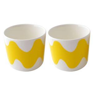 marimekko (マリメッコ) 069156 005 取っ手なし コーヒーカップ 2個セット デザートカップにもOK LOKKI COFFEE CUP 200ml 2PCS