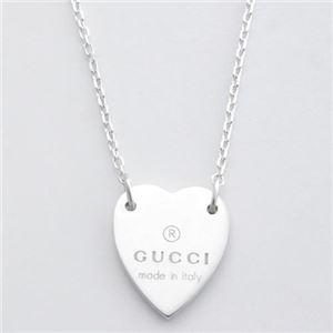 Gucci (グッチ) 223512-J8400-8106 gucci トレードマーク刻印 ハートモチーフ ペンダント/ネックレス スターリングシルバー