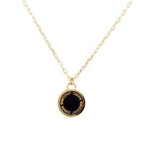 MARC JACOBS (マークジェイコブス) M0008546-062 Black/Oro ロゴ ディスク エナメル ペンダント/ネックレス Logo Disc Enamel Pendant