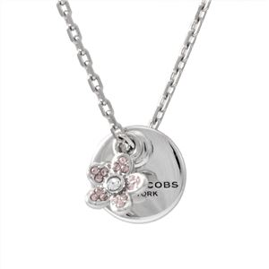 MARC JACOBS (マークジェイコブス) M0012398-040 Silver コイン デイジー ペンダント ネックレス MJ Coin Daisy Crystal Pendant