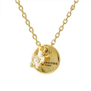 MARC JACOBS (マークジェイコブス) M0012398-710 Gold コイン デイジー ペンダント ネックレス MJ Coin Daisy Crystal Pendant