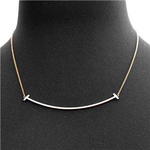 Tiffany (ティファニー) 33637152 Tiffany T スマイル ペンダント 18KRG ネックレス