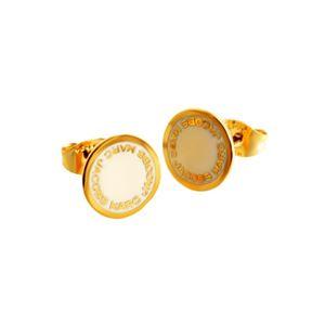 MARC JACOBS (マークジェイコブス) M0008544-106 Cream ロゴ ディスク エナメル スタッド ピアス Logo Disc Enamel Studs - 拡大画像