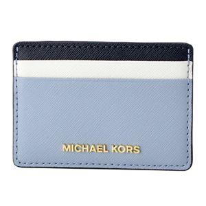 MICHAEL KORS (マイケルコース) 32T8GF6D1T 425 PLBL/WT/ADMR カラーブロック カードケース JET SET TRAVEL
