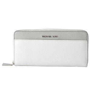 MICHAEL KORS (マイケルコース) 32T8SF6Z3T 191 WHT/PGY/ALUM カラーブロック 背面カードポケット付 ラウンドファスナー長財布