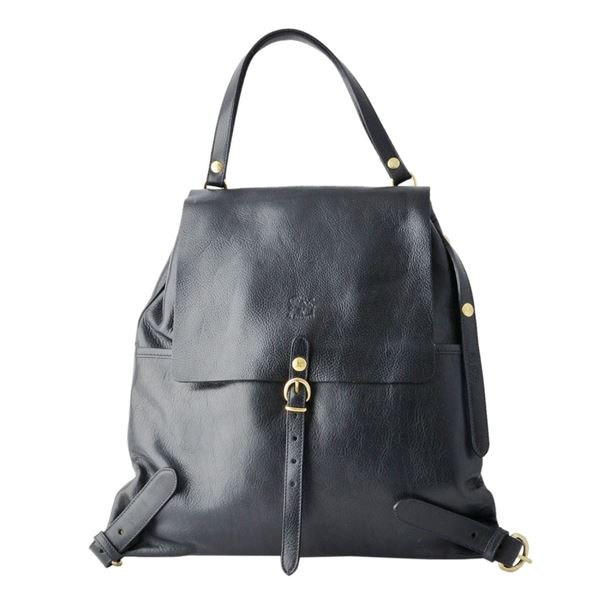 IL BISONTE(イルビゾンテ) A2499 153 BLACK リュックサック バックパック ショルダーバッグ