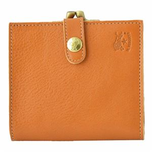 IL BISONTE(イルビゾンテ) C0556 145 Caramel がま口小銭入れ付 二つ折り財布 - 拡大画像