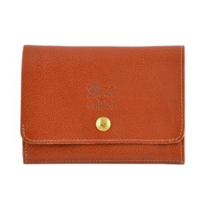 IL BISONTE(イルビゾンテ) C0522 214 Cognac 二つ折り財布 - 拡大画像