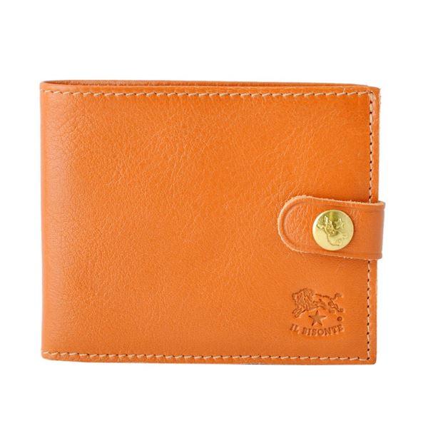 IL BISONTE(イルビゾンテ) C1007 145 CARAMEL 二つ折り財布 コンパクトウォレット
