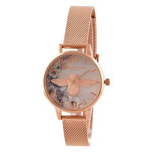 OLIVIA BURTON(オリビアバートン) OB16PP40 ウォーターカラーフローラルス レディース 腕時計 - 拡大画像