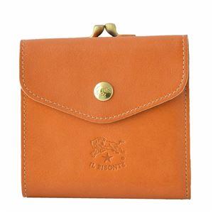 IL BISONTE(イルビゾンテ) C0423 145 Caramel がま口小銭入れ付 二つ折り財布