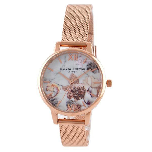 OLIVIA BURTON(オリビアバートン) OB16CS06 マーブルフローラル レディース 腕時計