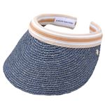 HELEN KAMINSKI(ヘレンカミンスキー) Bianca Misty Lake/Nougat Stripe ビアンカ UPF50+ クリップ サンバイザー ラフィア製ハット レディス帽子