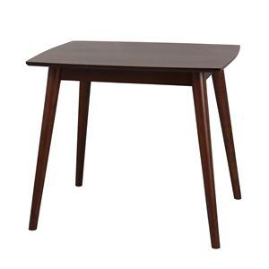 ユーリ ダイニングテーブル W80×D60×H69.5cm ブラウン 【組立品】 - 拡大画像
