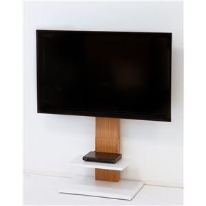 壁掛け風テレビ台 ロータイプ ナチュラル 【組立品】 - 拡大画像