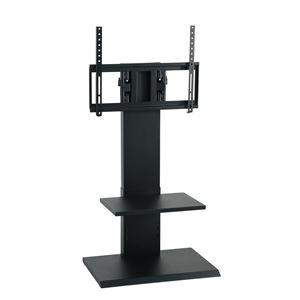 壁掛け風アングルテレビ台 ロータイプ ブラック 【組立品】 - 拡大画像