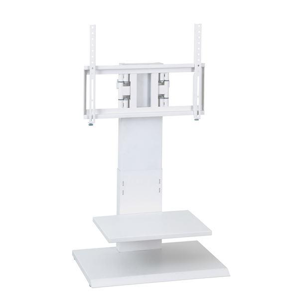 壁掛け風アングルテレビ台 ロータイプ ホワイト 【組立品】