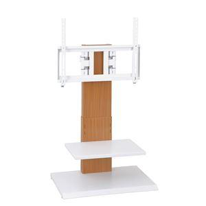 壁掛け風アングルテレビ台 ロータイプ ナチュラル 【組立品】 - 拡大画像